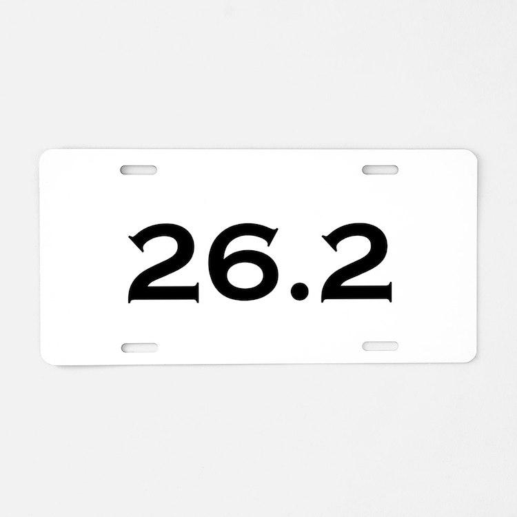 26.2 Marathon Aluminum License Plate