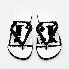 131black.psd Flip Flops