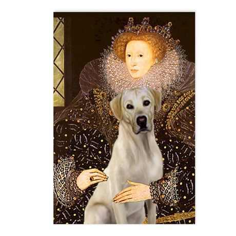 Queen & Yellow Lab Postcards (Package of 8)