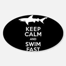 Sharks - Keep Calm, Swim Fast Decal