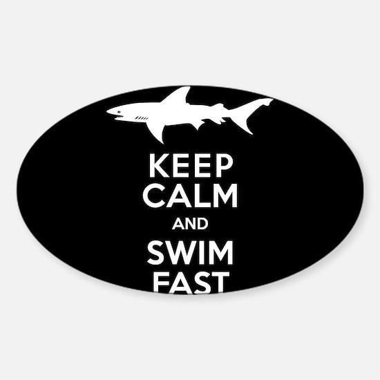 Sharks - Keep Calm, Swim Fast Decal