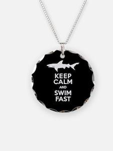 Sharks - Keep Calm, Swim Fas Necklace
