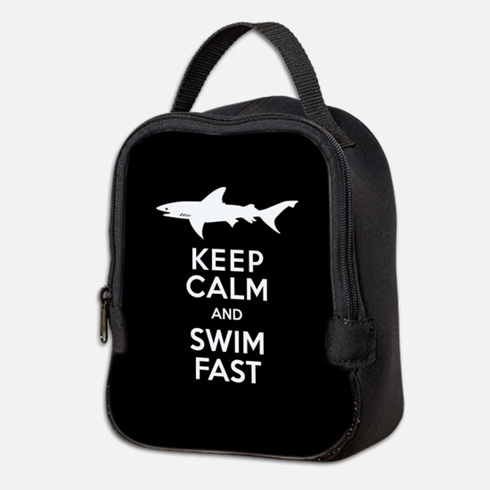 Sharks - Keep Calm, Swim Fast Neoprene Lunch Bag