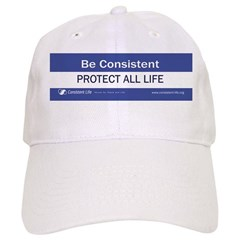 Be Consistent Baseball Cap (white)