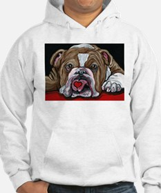 English Bulldog Valentine Hoodie Sweatshirt