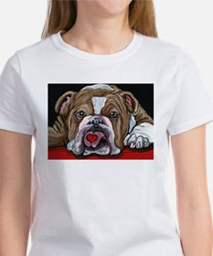 English Bulldog Valentine T-Shirt