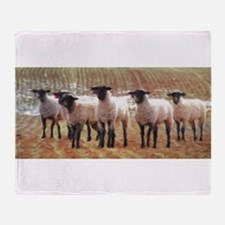 Sheep Painting Throw Blanket