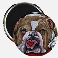 English Bulldog Valentine Magnets