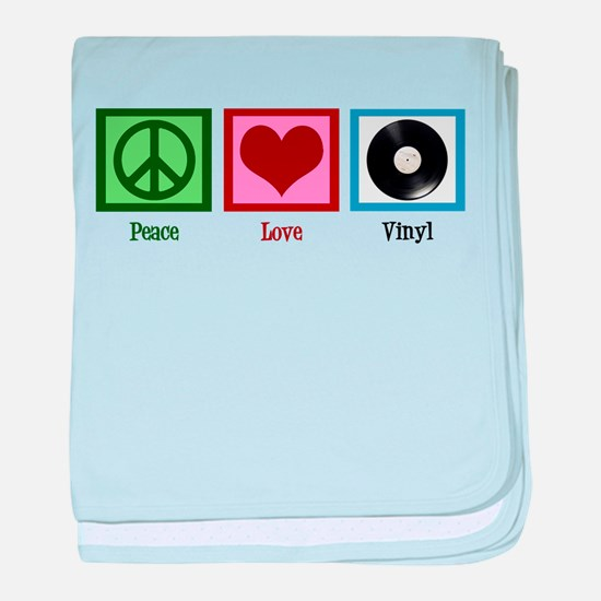 Peace Love Vinyl baby blanket
