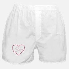 Heart and Love Script Boxer Shorts