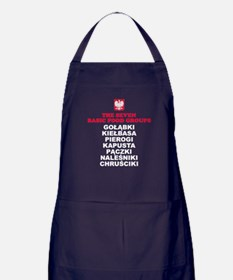 Seven Basic Polish Food Groups Apron (dark)