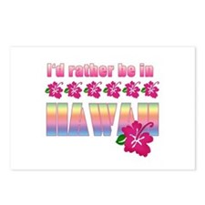 I'd Rather be in Hawaii Postcards (Package of 8)