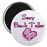 Sexy Bank Teller Magnet