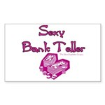 Sexy Bank Teller Rectangle Sticker