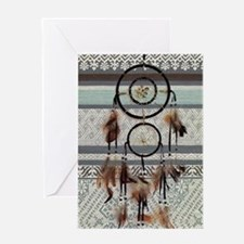 native tribal pattern dream catcher Greeting Cards