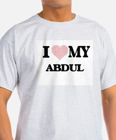 I Love my Abdul (Heart Made from Love my w T-Shirt