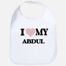 I Love my Abdul (Heart Made from Love my words Bib