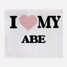 I Love my Abe (Heart Made from Love Throw Blanket