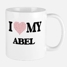 I Love my Abel (Heart Made from Love my words Mugs