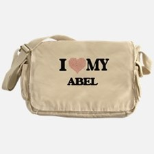 I Love my Abel (Heart Made from Love Messenger Bag