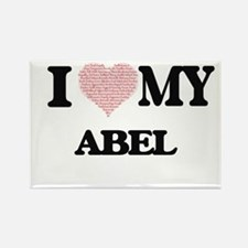 I Love my Abel (Heart Made from Love my wo Magnets