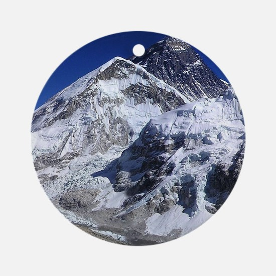 Funny Mount everest Round Ornament