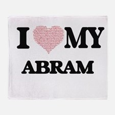 I Love my Abram (Heart Made from Lov Throw Blanket