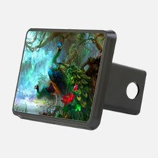 Beautiful Peacocks In Garden Hitch Cover