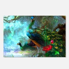 Beautiful Peacocks In Garden Postcards (Package of
