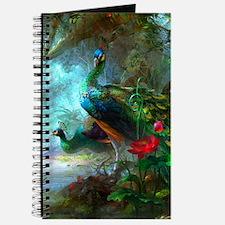 Beautiful Peacocks In Garden Journal