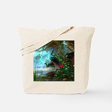 Beautiful Peacocks In Garden Tote Bag