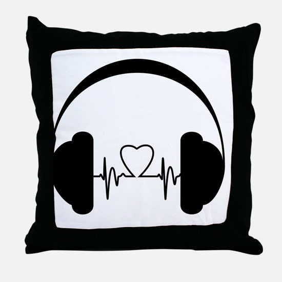 Cute Podcast Throw Pillow