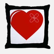 Unique Heart with bandaid Throw Pillow