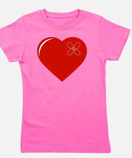 Cute Heart with bandaid Girl's Tee