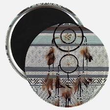 native tribal pattern dream catcher Magnets