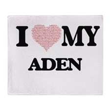 I Love my Aden (Heart Made from Love Throw Blanket