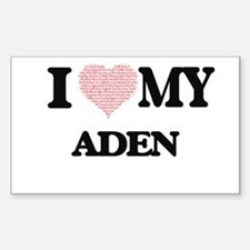 I Love my Aden (Heart Made from Love my wo Decal
