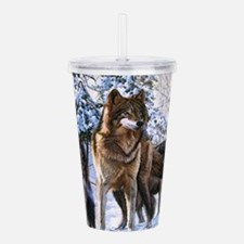 Pack Of Wolves Acrylic Double-wall Tumbler
