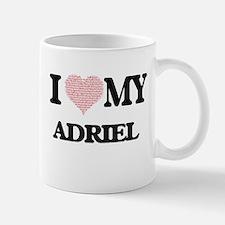 I Love my Adriel (Heart Made from Love my wor Mugs