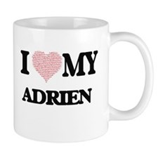 I Love my Adrien (Heart Made from Love my wor Mugs