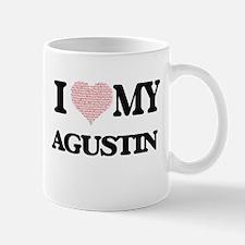 I Love my Agustin (Heart Made from Love my wo Mugs