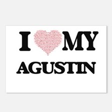 I Love my Agustin (Heart Postcards (Package of 8)