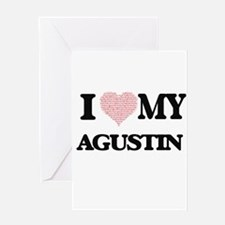 I Love my Agustin (Heart Made from Greeting Cards