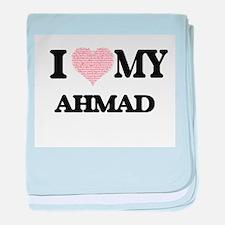 I Love my Ahmad (Heart Made from Love baby blanket