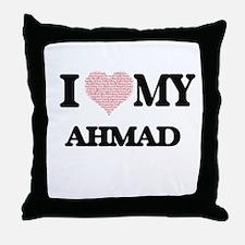 I Love my Ahmad (Heart Made from Love Throw Pillow