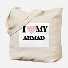 I Love my Ahmad (Heart Made from Love my Tote Bag