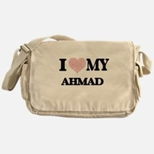 I Love my Ahmad (Heart Made from Lov Messenger Bag