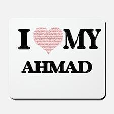 I Love my Ahmad (Heart Made from Love my Mousepad