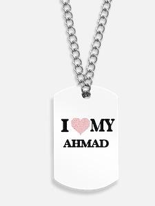 I Love my Ahmad (Heart Made from Love my Dog Tags