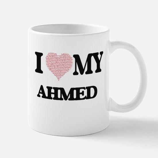 I Love my Ahmed (Heart Made from Love my word Mugs